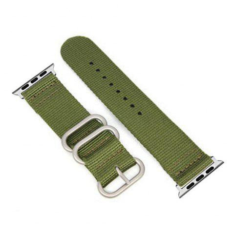 Sale 38mm Woven Nylon for iWatch Series 3/2/1 Band Replacement Strap With silver Adapters