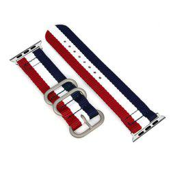 38mm Woven Nylon for iWatch Series 3/2/1 Band Replacement Strap With silver Adapters -