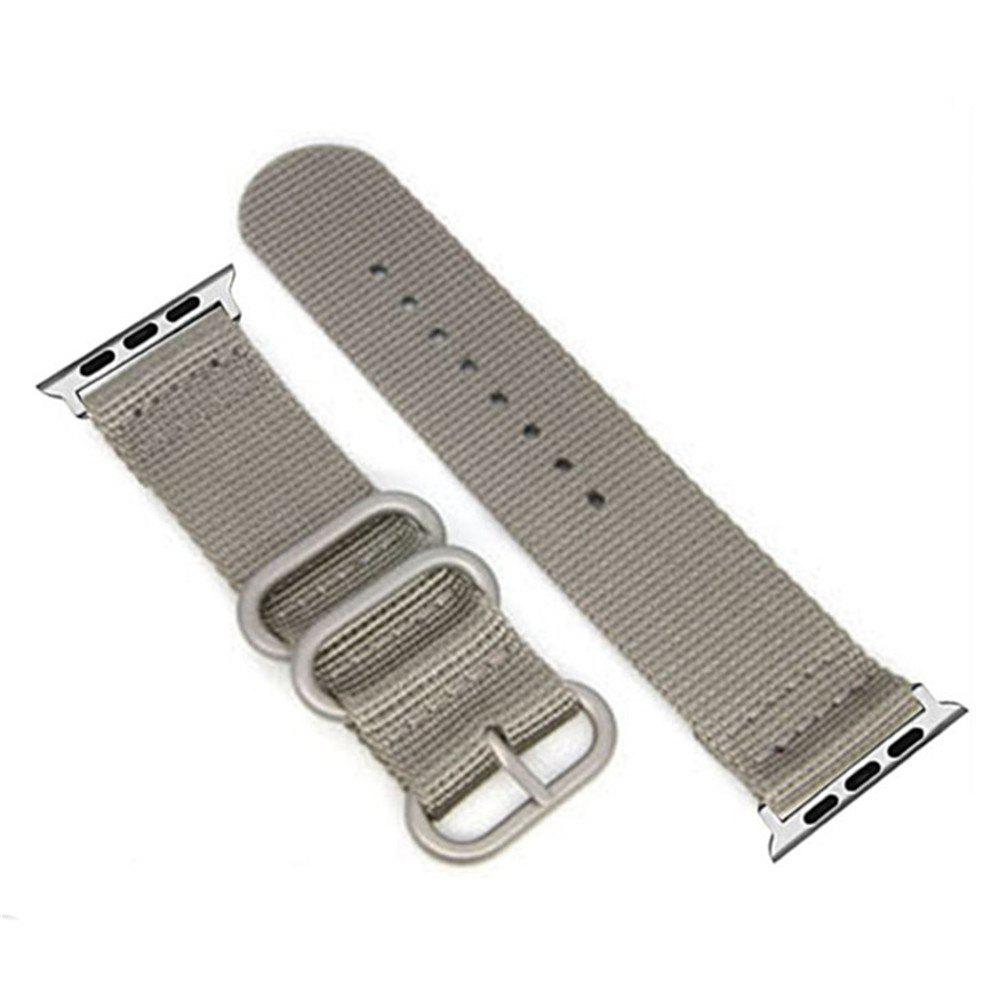 New 38mm Woven Nylon for iWatch Series 3/2/1 Band Replacement Strap With silver Adapters