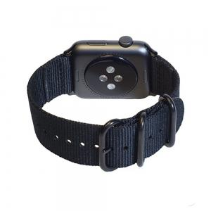 38mm Woven Nylon for iWatch Series 3/2/1 Band Replacement Strap With Black Adapters -