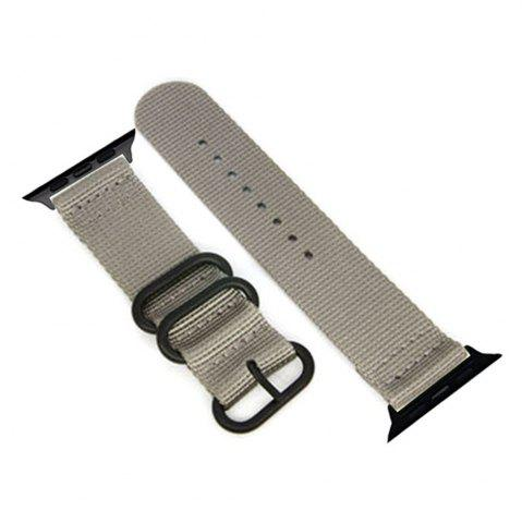 Trendy 38mm Woven Nylon for iWatch Series 3/2/1 Band Replacement Strap With Black Adapters