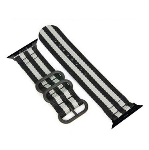 Online 38mm Woven Nylon for iWatch Series 3/2/1 Band Replacement Strap With Black Adapters