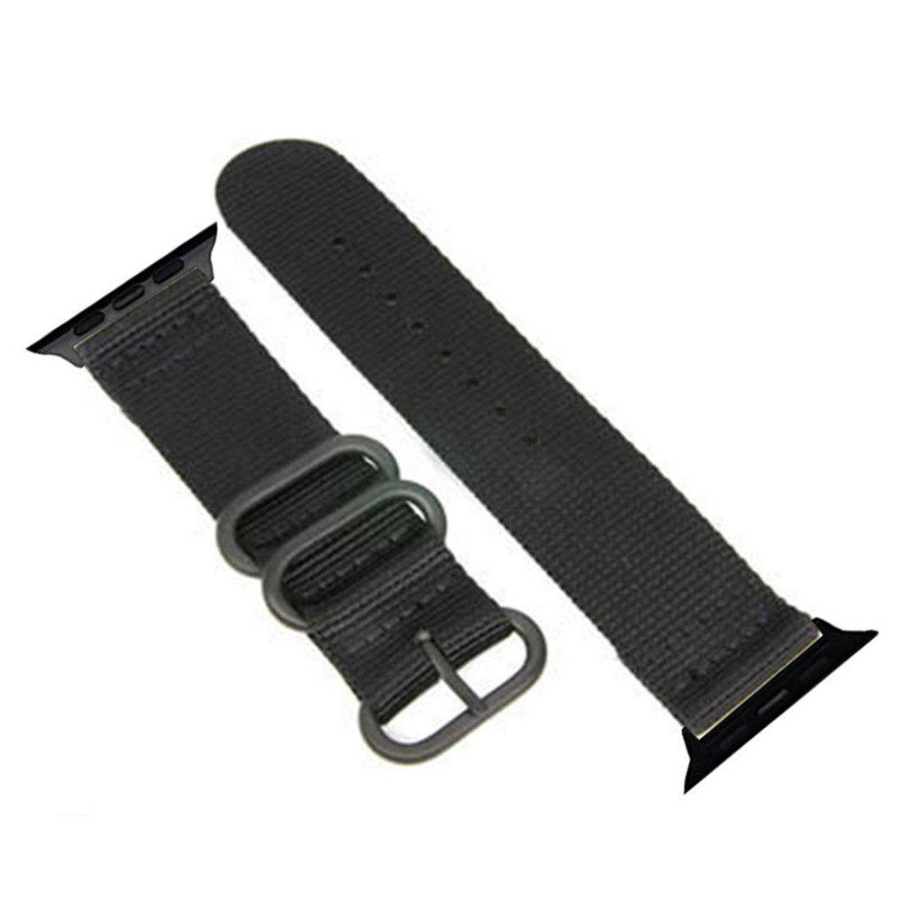 Outfit 42mm Woven Nylon for iWatch Series 3/2/1 Band Replacement Strap With Black Adapters
