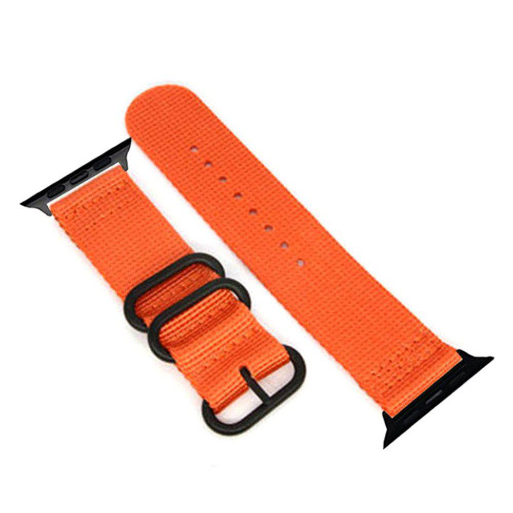 Store 42mm Woven Nylon for iWatch Series 3/2/1 Band Replacement Strap With Black Adapters
