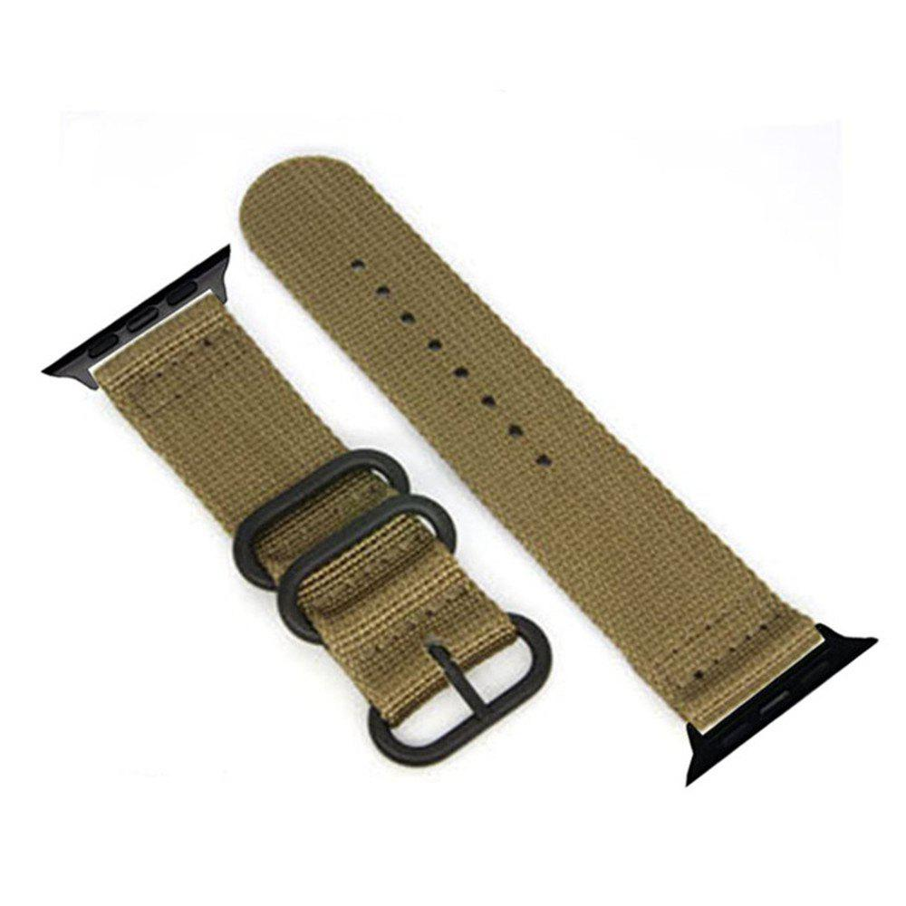 Fancy 42mm Woven Nylon for iWatch Series 3/2/1 Band Replacement Strap With Black Adapters