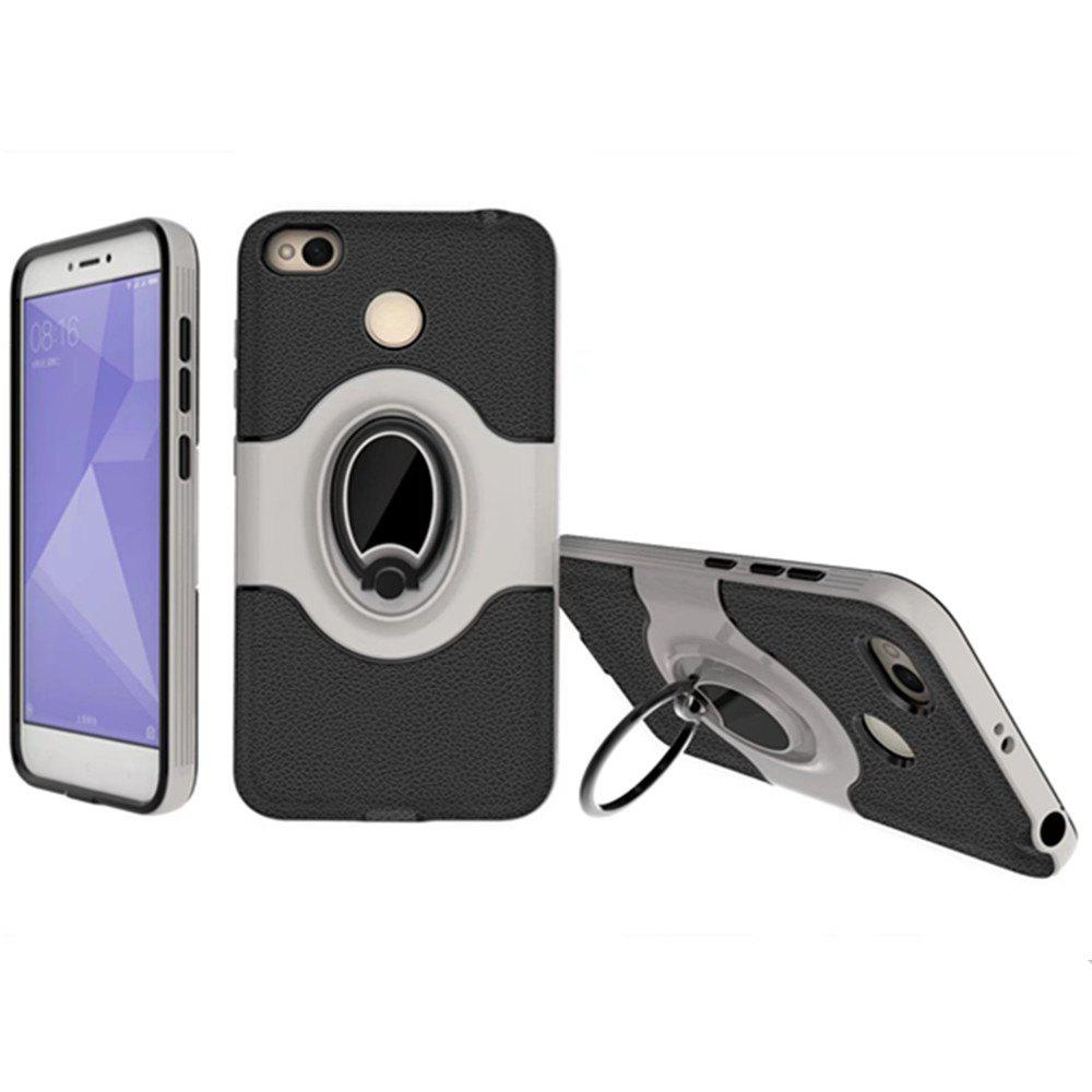 Fancy Cover Case for Xiaomi Redmi 4X  With Shock Absorption Dual Design Phone Ring Holder Anti-scratch Protective