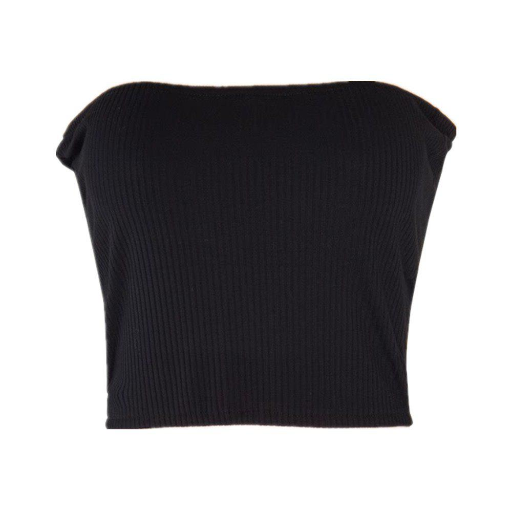 Shops Sexy Word Side Slim Wrapped Chest Crop Tops