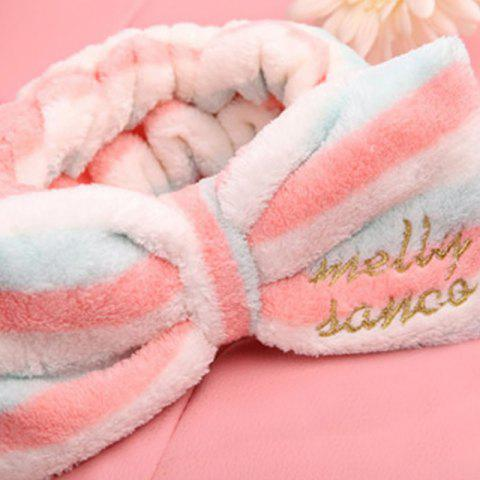 Fancy put on makeup motion Hair towel Lovely bandeau bowknot Flannelette Baotou cloth