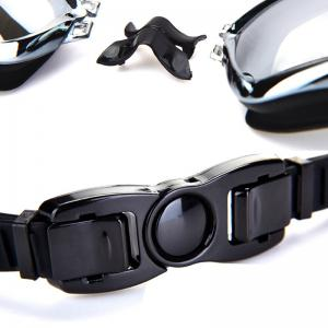 Swimming Goggles with Protective Case Nose Clip and Ear Plugs Mirrored  Clear Anti Fog Waterproof -