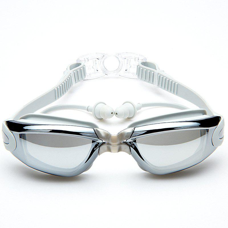 Affordable Swimming Goggles with Protective Case Nose Clip and Ear Plugs Mirrored  Clear Anti Fog Waterproof
