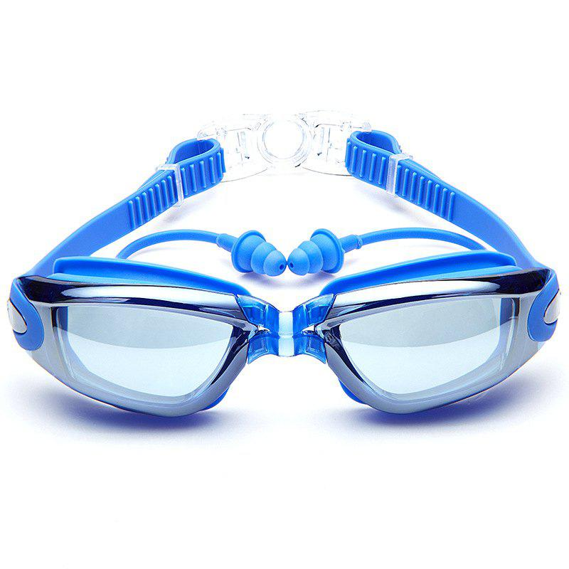Best Swimming Goggles with Protective Case Nose Clip and Ear Plugs Mirrored  Clear Anti Fog Waterproof