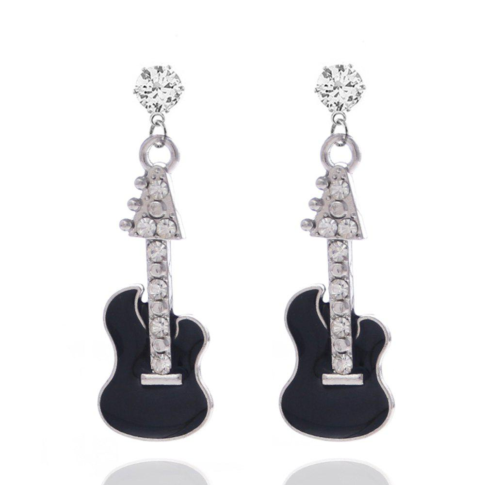 Fashion New Earrings Diamond Jewelry Violin