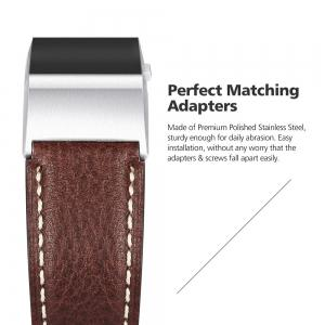 Benuo for Fitbit Charge 2 Genuine Leather Replacements 42mm -