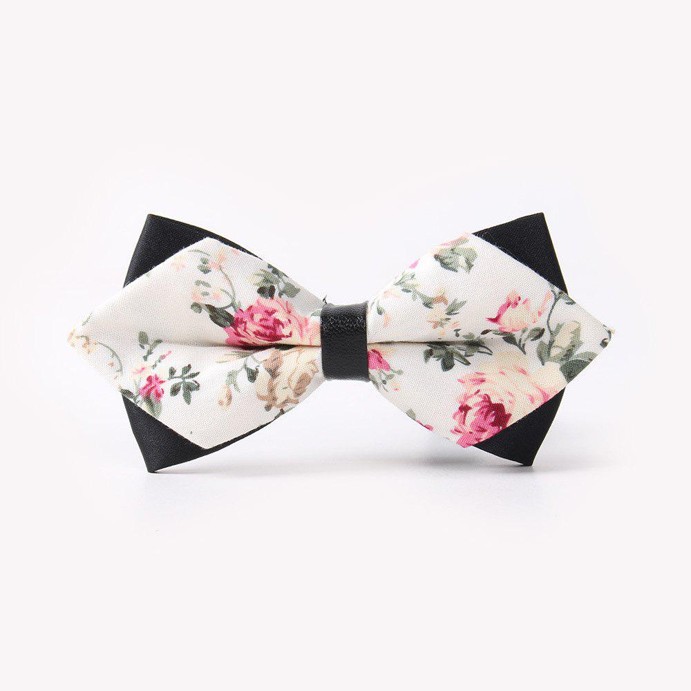 Latest Leather Men'S Printing Bowknot