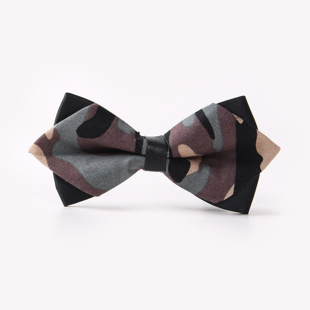 Outfits Leather Men'S Printing Bowknot