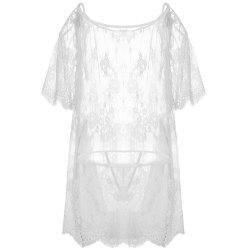 Новая марля Transparent Temptation Sexy Lace Pajama -