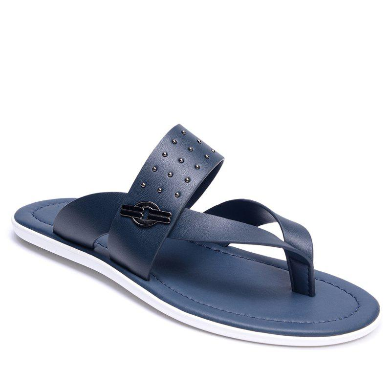 Fashion Hot Selling Low Price Popular Style Summer Men Cow Leather Sandal