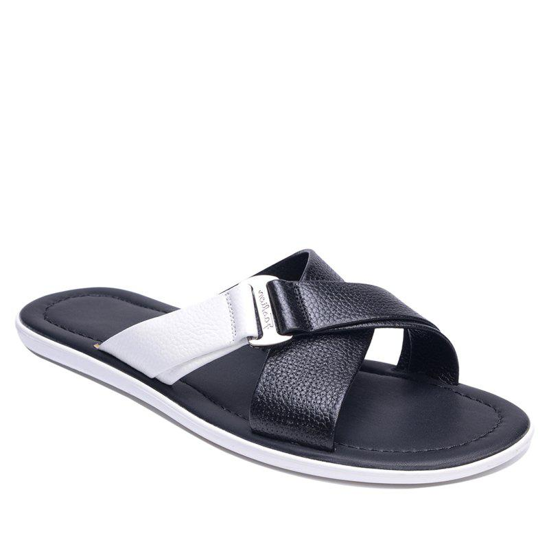 Shops Summer Beach Shoes Cool Feeling Soft Leather Fashionable Men Sandals