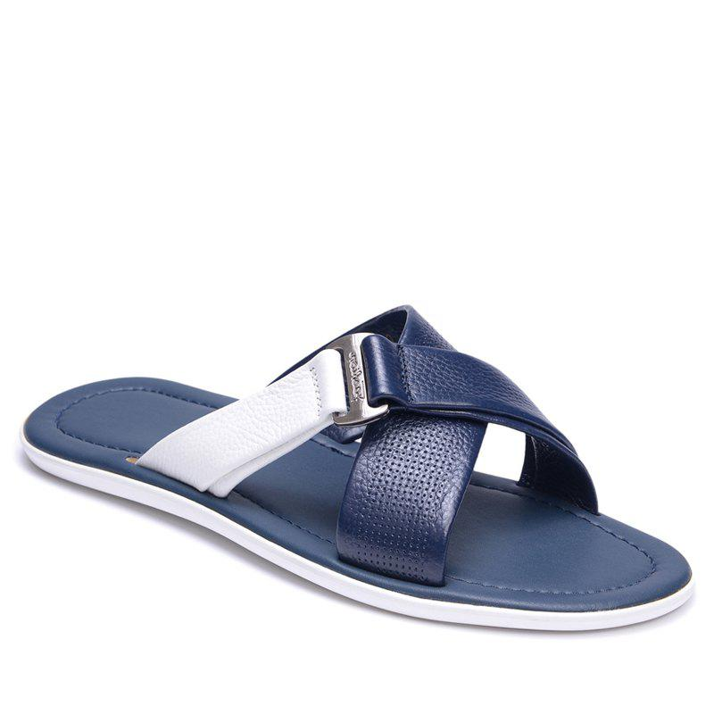 Shop Summer Beach Shoes Cool Feeling Soft Leather Fashionable Men Sandals