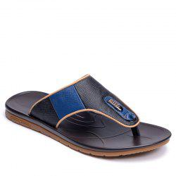 High Quality Classical Design Genuine Cow Leather Summer Men Flip Flop Slipper -