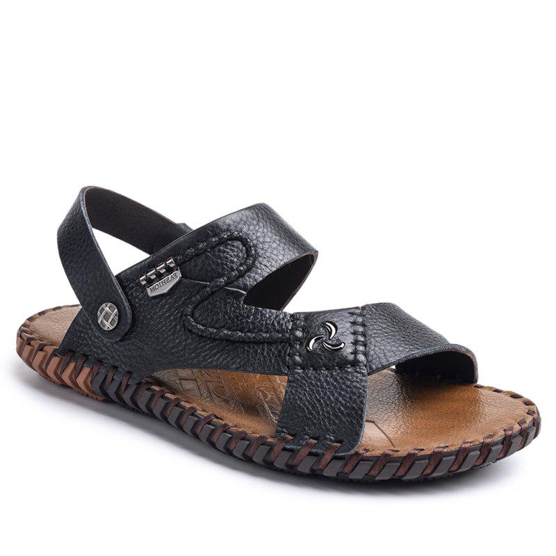 54bb9a196f1 Shops Ummer Male Sandals Men Genuine Leather Shoes Open Toe Sandals  Slippers Fashion Casual Cowhide Beach