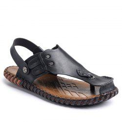 Summer Cool Comfortable Full Grain Genuine Leather Men Sandals -