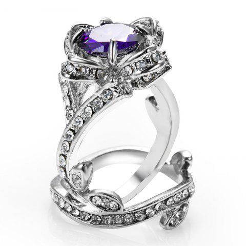 New womens wedding crystal finger ring