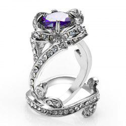 womens wedding crystal finger ring -