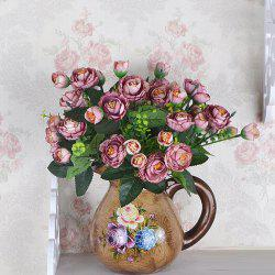 Decorative Artificial Tea Plum Flower Bouquet Home Desk Display -