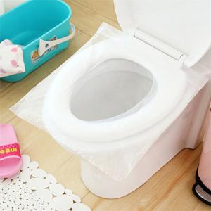 1 Bag 10 Pieces Travel Set Disposable Toilet Seat Cover Water Resistant Toilet Paper Pad Bathroom Accessories Set -