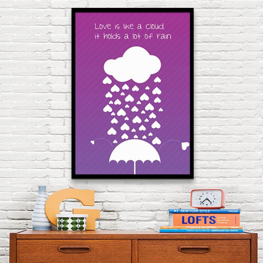 Special Design Frame Paintings Love Is Like A Cloud Print