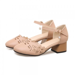 Women's Sandals Solid Color Faddish Closed Toe Buckle Ankle Strap Casual Shoes -