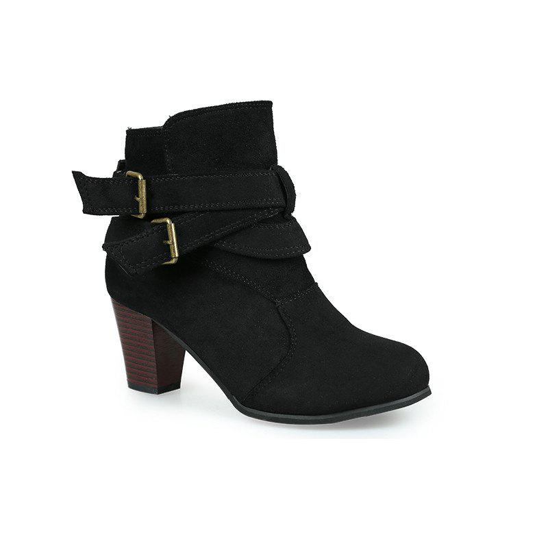 Shops Thick With Two-button Point Female Fashion Short Boots