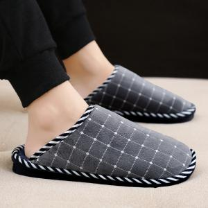 Men Winter Home Slippers Cotton Shoes Soft Warm Couple Shoes -