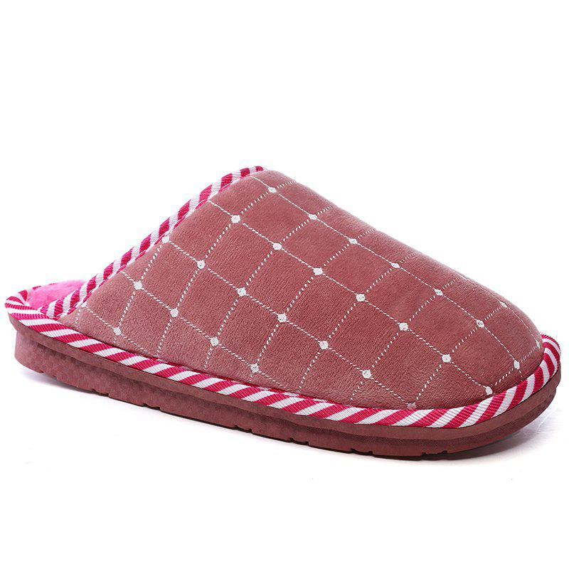 Sale Men Winter Home Slippers Cotton Shoes Soft Warm Couple Shoes