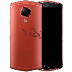 Case for Meitu T8 Phone Shell Tpu Soft Red Twig Pattern -