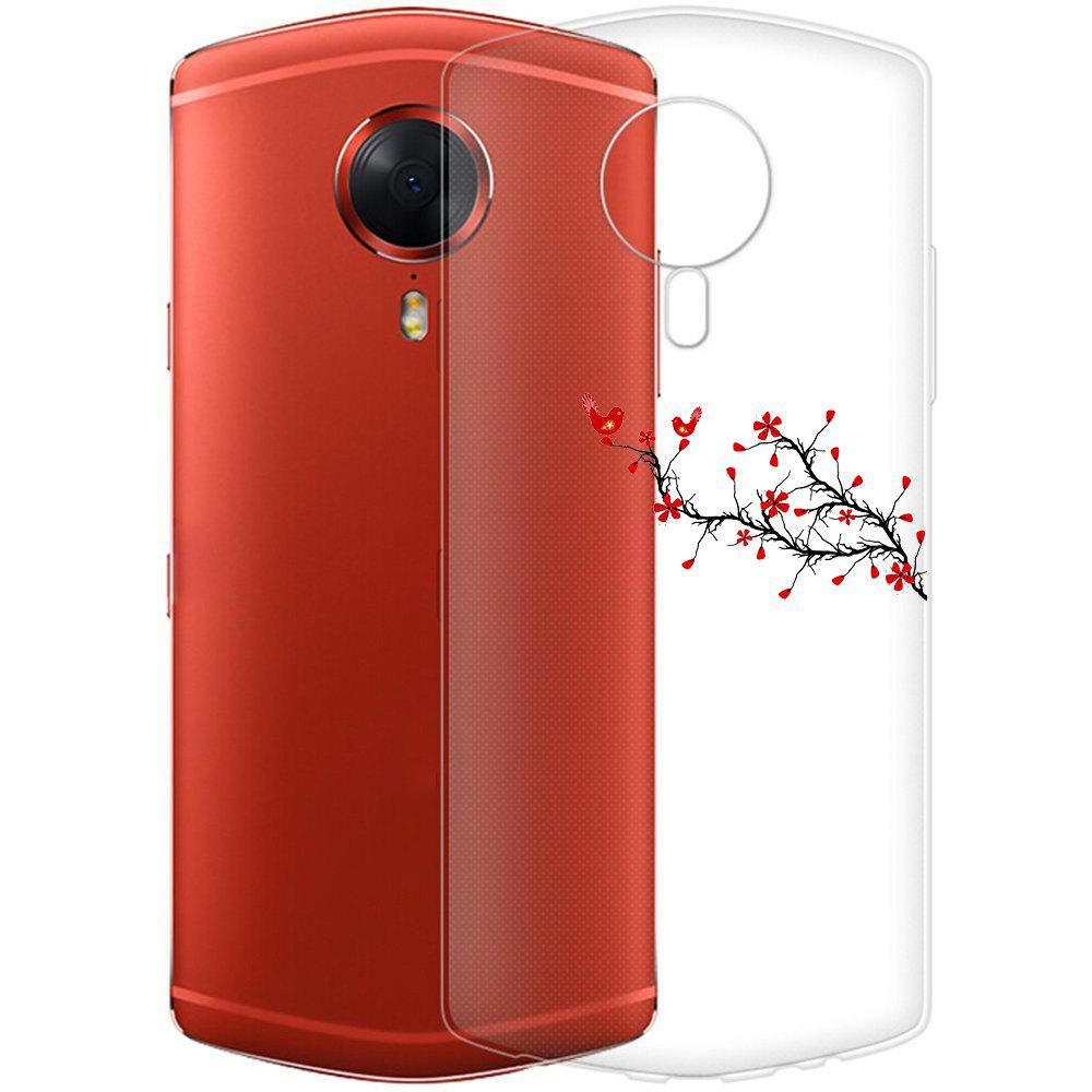 Shop Case for Meitu T8 Phone Shell Tpu Soft Red Twig Pattern