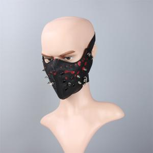 Hot Selling Leather Personality Punk Wind Riveting Locomotive Mask -