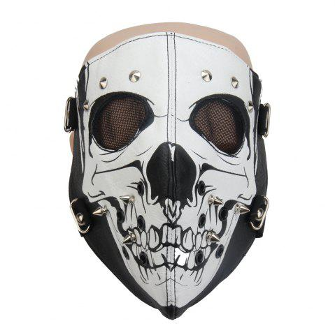 Discount Hot Leather Windproof Anti Haze Personality Skeleton Locomotive Mask