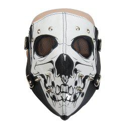 Hot Leather Windproof Anti Haze Personality Skeleton Locomotive Mask -