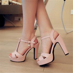 Miss Shoe Bk9-2 High Heels with Fish Mouth Open-Toe Sandals -