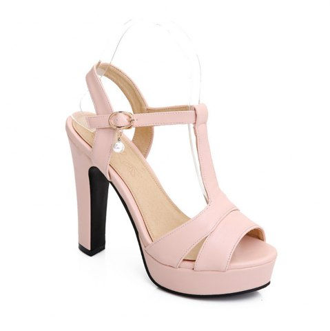 Trendy Miss Shoe Bk9-2 High Heels with Fish Mouth Open-Toe Sandals