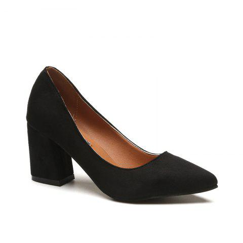 Shops Shallowly Working Shoes with High Heel