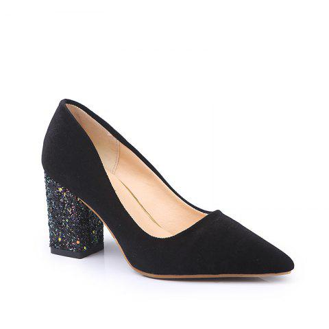 Online Fashionable Woman with The New Occupation All-Match Simple Rough Suede Shoes