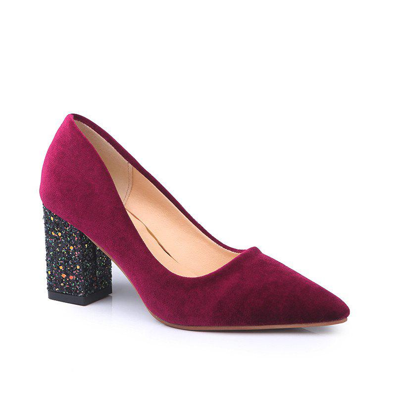 Shops Fashionable Woman with The New Occupation All-Match Simple Rough Suede Shoes