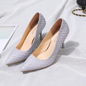 Fashion Sexy Slim High-Heeled Shoes with Thin Shallow Mouth All-Match Pointed Shoes -