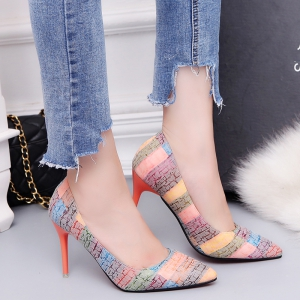 Female with A Fine with Sexy All-Match Pointed High-Heeled Shoes -
