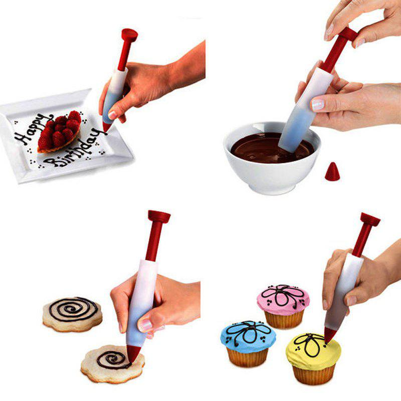 Silicone Food Writing Pen Chocolate Decorating Tools Cake Mold Cream Cup Cookie Icing Piping Pastry Nozzles Kitchen Acce 250564001