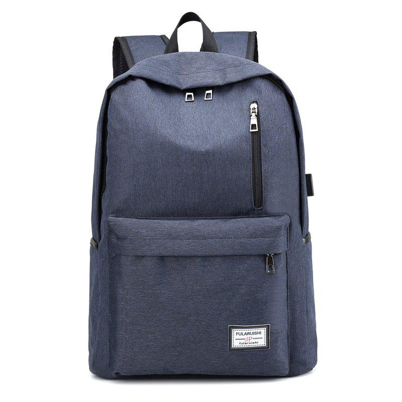 Trendy Backpack Rechargeable Leisure Travel Large Capacity Computer Bag Men And Women College Students Bags