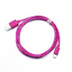 1M Braided Nylon Micro USB Charger Sync Data Charging Cable Cord for Android -